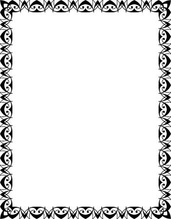 garnished: Garnished vector frame, Black and White
