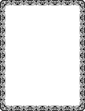 mosaico simple marco delgado escala de grises foto de archivo