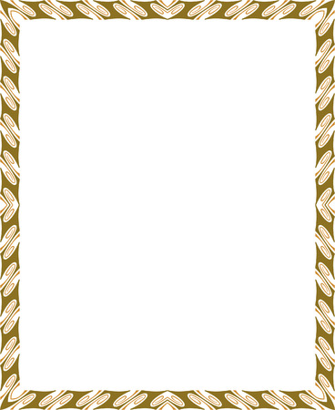 thick: Classical ornate vector frame, Colored