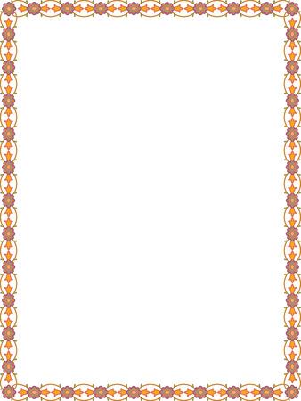 Fleurs et feuilles des plantes cadre de frontière, de couleur Banque d'images - 23562879