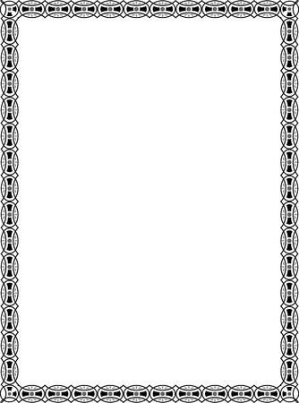 em tons de cinza: Ladrilhos simples moldura fina, em tons de cinza Ilustração