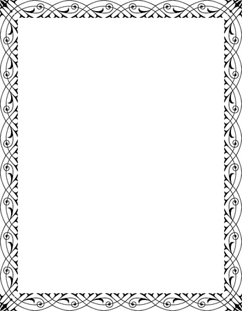 Elegant style vector frame, Black and White Vector
