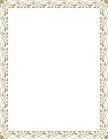Elegante stijl vector frame, Gekleurd Stock Illustratie