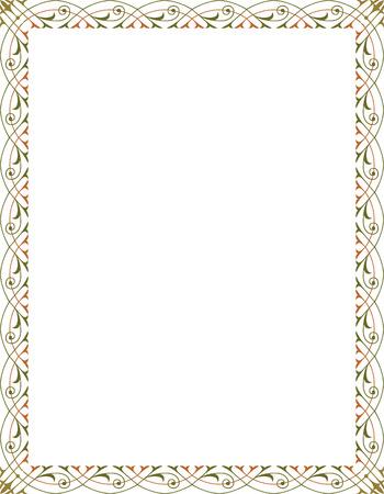 Eleganter Stil Vektor-Rahmen, Farbiger Standard-Bild - 23562936