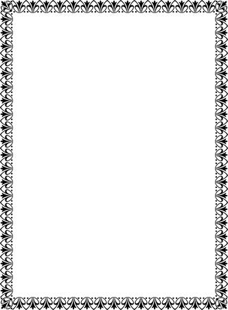 utsirad: Enkel plattsättning tunn ram, svart och vitt