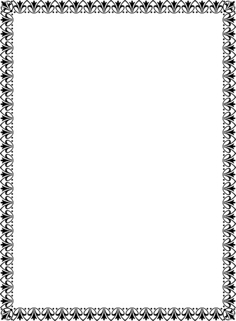 thick: Simple tiling thin frame, Black and White