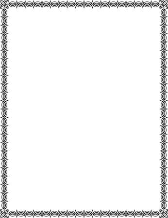 em tons de cinza: Azulejos simples fina moldura, em tons de cinza Ilustração
