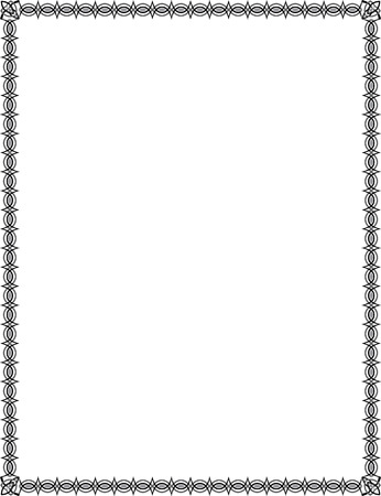 Simple tiling thin frame, Grayscale