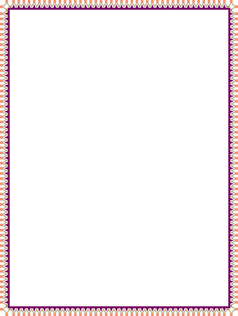 Simple tiling thin frame, Colored Illustration