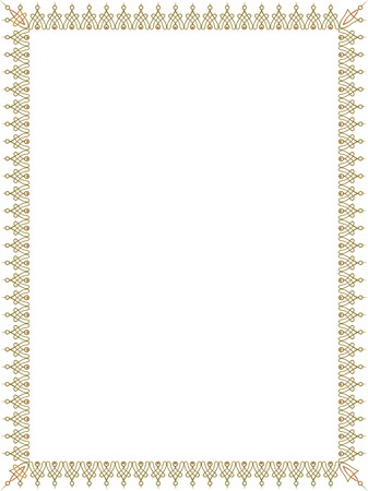 diploma border: Simple style thin frame, Colored