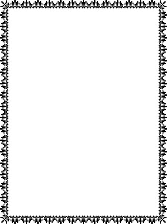 em tons de cinza: Elegante estilo simples, fina moldura, em tons de cinza Ilustração