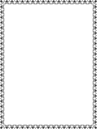 skinny: Mosaico simple marco delgado, escala de grises