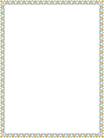 thick: Simple tiling thin frame, Colored Illustration