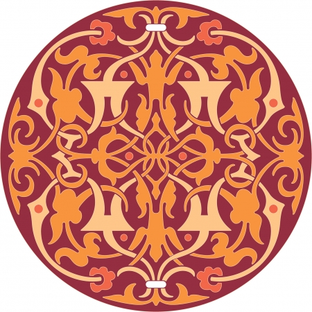 thick: Circle ornament pattern, Colored