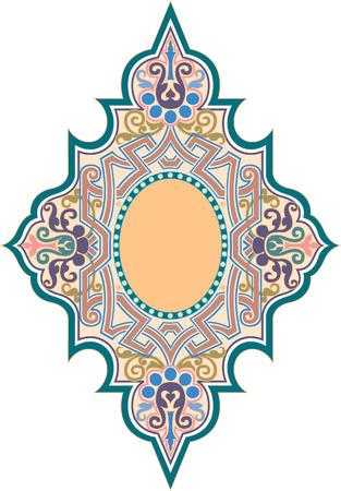 Oosterse decoratief patroon, Gekleurde Stock Illustratie