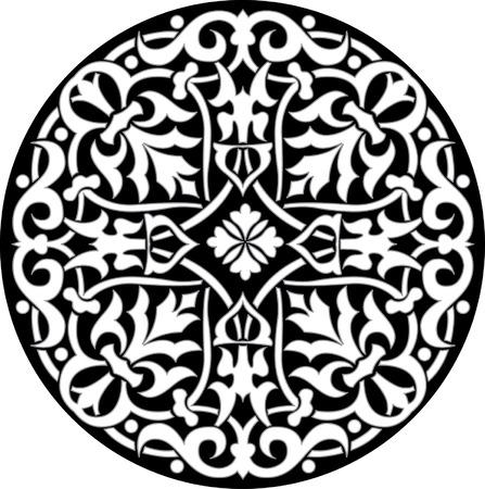 grayscale: Circle ornament pattern, Grayscale