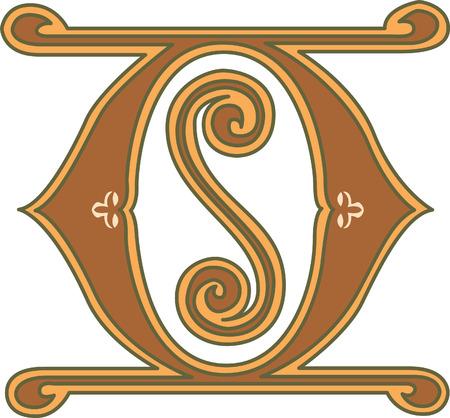 i nobody: Classic style, English alphabet letter O, colored
