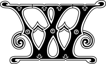 twenty six: Classic style, English alphabet letter W, monochrome