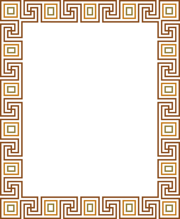 Tiled simple outlines, vector frame, Colored Vector
