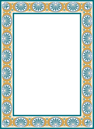 Framework decorated, Colored Vector