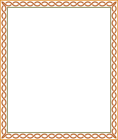 Simple line vector frame, Colored Vector