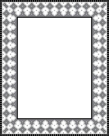 Vecteur cadre arabesque carrelé, épais, en niveaux de gris Banque d'images - 23504881