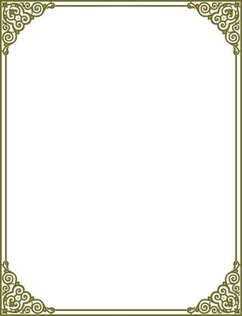 skinny: Esquema simple del vector del marco con las esquinas, de color