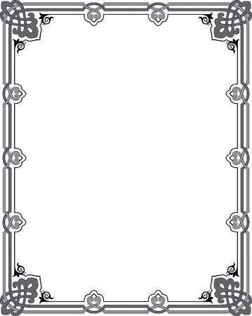 Garnished vector frame, Grayscale Vector