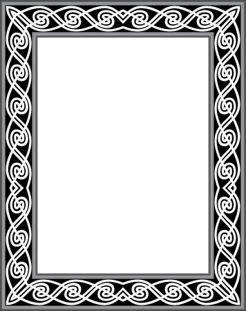 Simple outline vector frame, Grayscale Vector