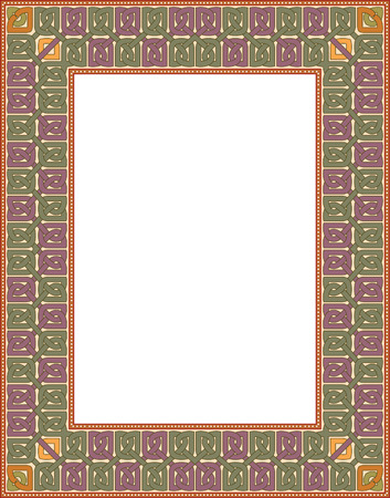Simple outline vector frame, thick, Colored Vector