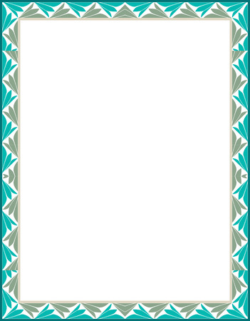 Simple tiling vector frame, Colored Vector