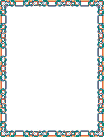 Simple outline vector frame, Colored Vector