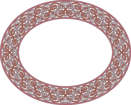 Garnished oval vector frame, Colored Stock Vector - 23505008