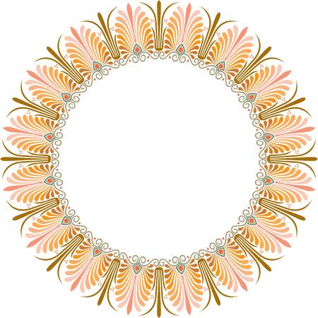 garnished: Garnished circle frame, Colored