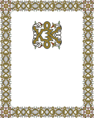 thick: Tiled ornate frame
