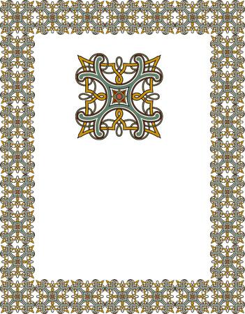 Tiled ornate frame Vector