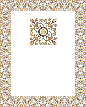 Tiled ornate frame Vector