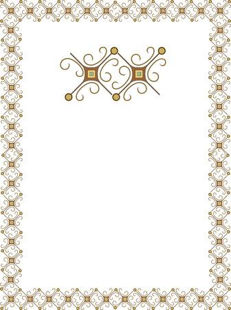 Simple outline frame Vector
