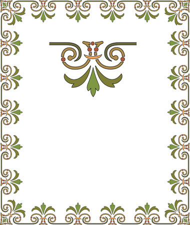 Simple tiling frame Vector