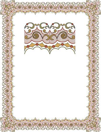Cadre garni Banque d'images - 23445110