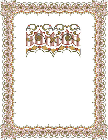 thick: Garnished frame