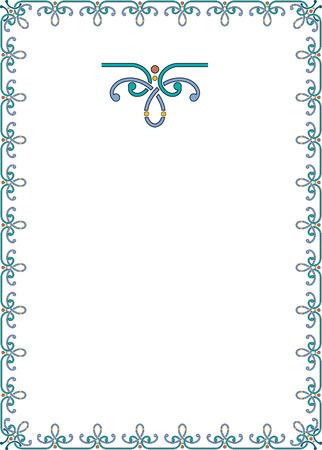 Simple outline frame Ilustração