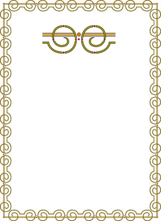 thick: Simple outline frame Illustration