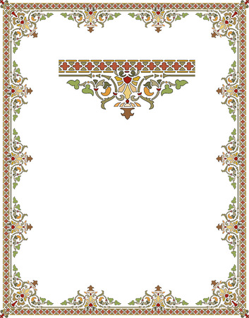 oriental: Garnished frame