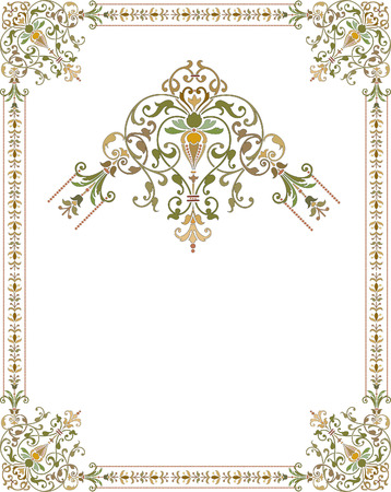 Elegant style frame with ornament corners Vector