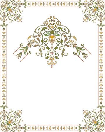 illustrator: Elegant style frame with ornament corners Illustration