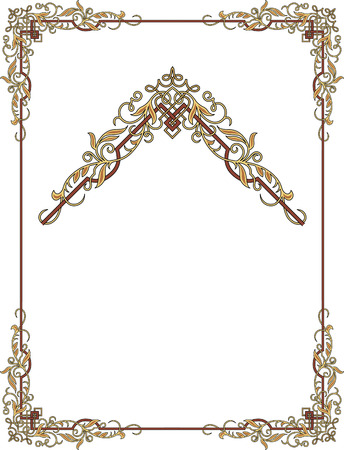 page borders: Garnished frame with corners