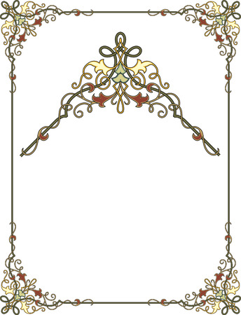 illustrators: Garnished frame with corners