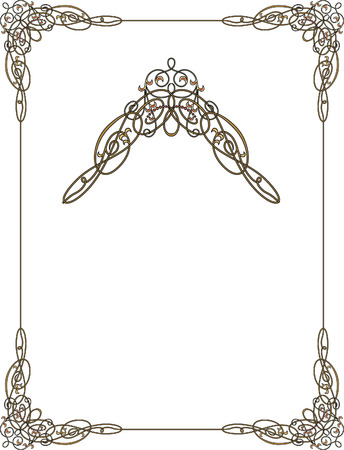 Garnished frame with corners Vector