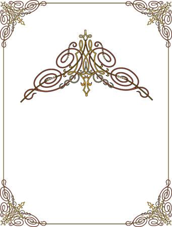 marcos decorados: Marco adornado con las esquinas Vectores